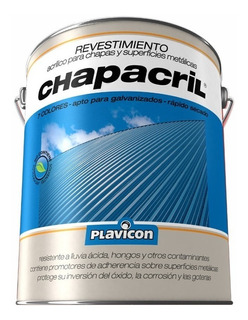 Chapacril Revestimiento Acrilico Chapas Metalicas 4 L Mm