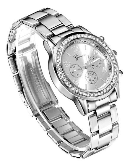 Relógio Feminino De Pulso Com Pedras