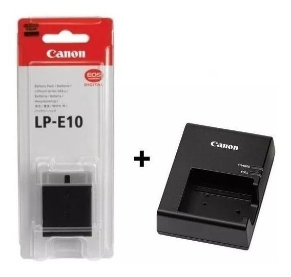 Bateria Lp-e10 + Carregador P/ Câmeras Canon T3 T5 T6+nota