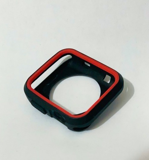 Case Protector Negro Con Rojo Apple Watch Series 3 42mm