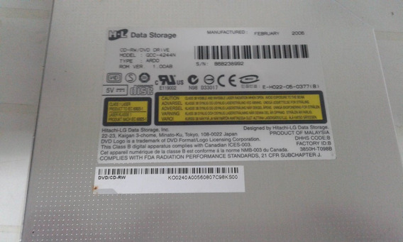 Dvd Rw Modelo Gcc-4244n Notebook Acer Aspire 3620 Serie