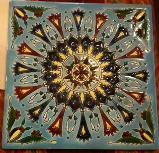 Azulejo 15 Cm Pintado A Mano Artesanal Horneado Esmaltado