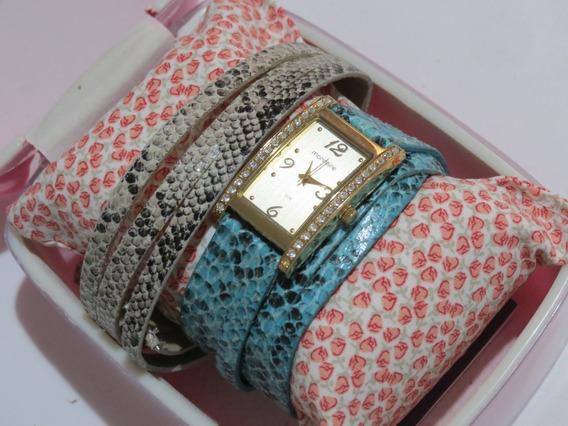 Relógio De Pulso C/ 2 Pulseiras Feminino Mondaine