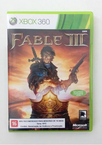 Jogo Xbox 360 Fable Iii - Usado Original