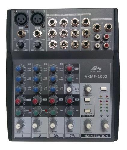 Mixer 1002 Audioking Mezclador Sonido 2 Microfonos