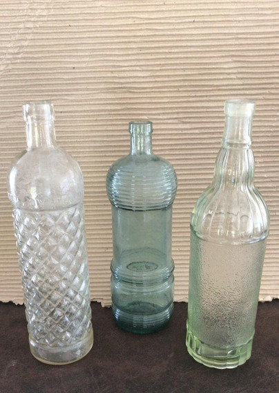 Antiguas Botellas Facetadas Lote X 3 Excelentes !!