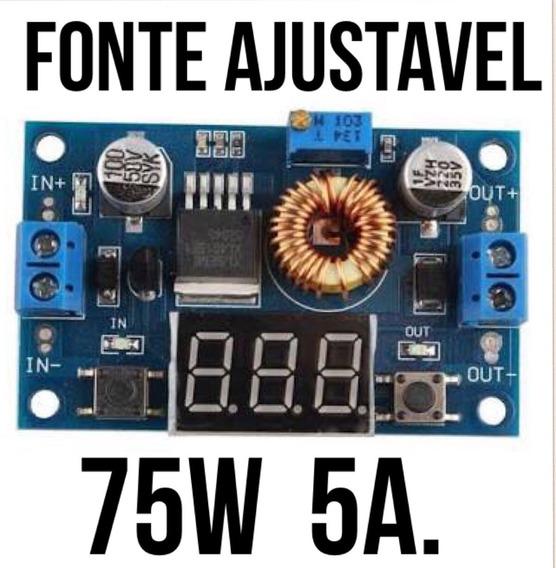 Kit Conversor Dc-dc Ajustavel 5a - 75w + Dissipador De Calor