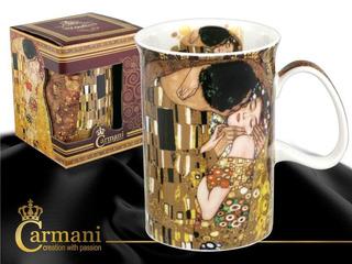 Taza Delgada En Porcelana 350 Ml El Beso Klimt Café