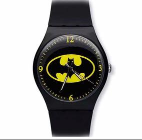 Relógio Batman Preto Silicone Brinde Festa Infantil