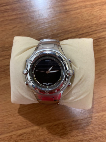 Relógio Analógico/digital De Aço Inoxidável
