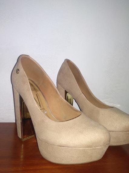 Zapatos Vizzano De Gamuza Talle 38/39 Un Solo Uso