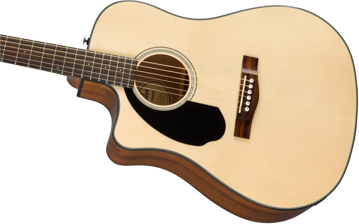 Fender CD-60SCE Dreadnought Solid WN NAT LH Zurda