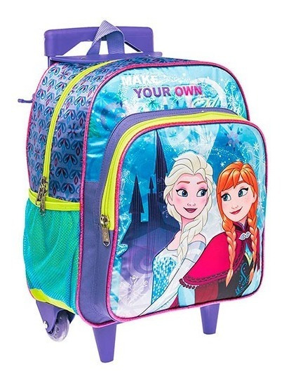 Mochila Escolar Llantas Niña Frozen Elsa Y Ana Ruz 148374 T4