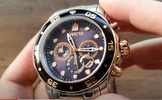 Relógio Invicta Pro Diver 80038 Calendário Cronógrafo