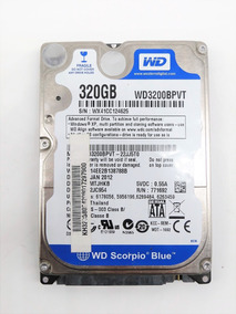Hd Notebook 320gb Sata Wd Scorpio Blue Wd3200bpvt 5400rpm