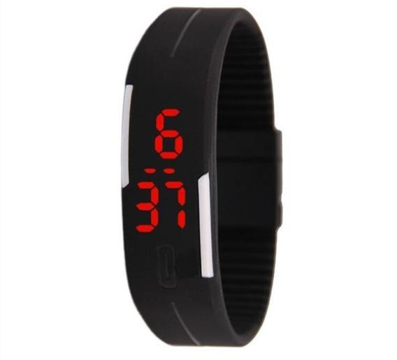 Relógio Bracelete De Silicone Digital Tcp1012