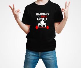 Playera Goku Dragon Ball Training Gym Gimnasio Niño 1 Pza E