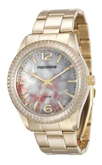 Relógio Mondaine Feminino Dourado 76596lpmvde1 Lindo Barato