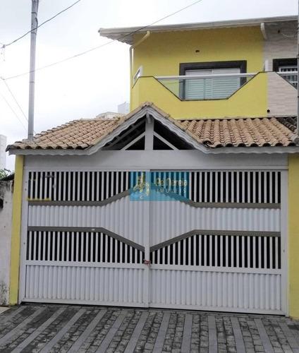 Sobrado Com 3 Dormitórios, 2 Suítes, Sacada, 2 Vagas, À Venda Por R$ 550.000 - Vila Guilhermina - Praia Grande/sp - R3g668s - So0002