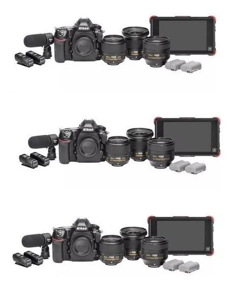 Nikon D850 45.7mp Filmmaker Kit Bolsa Tripé 64gb - Nova!!