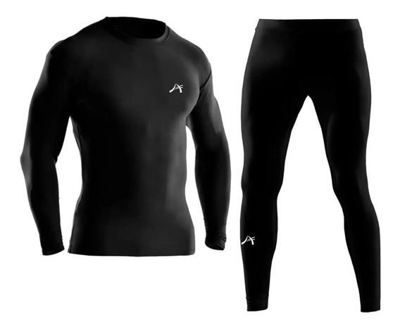 Conjunto Termico Alpina Remera + Calza Pantalon Bici Running