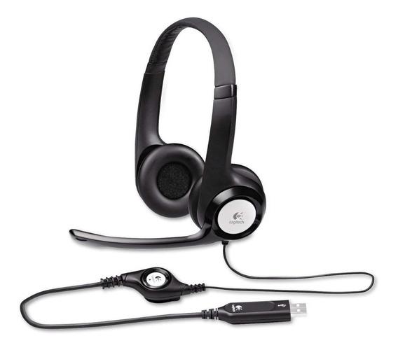 Fone Headset Logitech H390 Usb 2.0