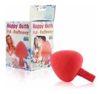 Esponja Para Banho Com Vibro Morango - Sexshop 3180