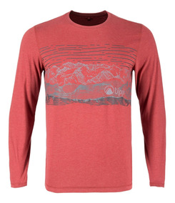 Polera Hombre Lippi Landscape Long Sleeve Cotton T-shirt Ter