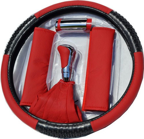 Imagen 1 de 3 de Kit Deportivo Tunning De 6 Piezas - Rojo - Gris - Negro