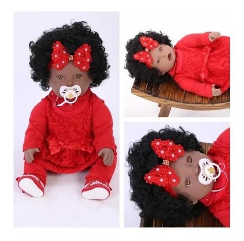 Imagem 1 de 7 de Bebê Reborn Negrinha Negra Preta Pretinha - 25 Acessórios