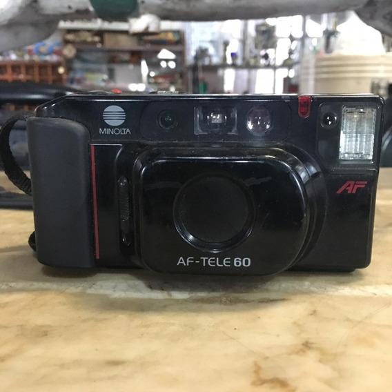 Câmera Fotográfica Antiga Minolta Af Tele 60 Ñ Nikon 1495