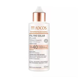 Adcos Filtro Solar Fps40 Fluid Tonalizante Bronze 50ml