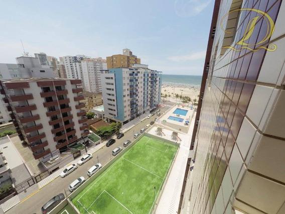 Apartamento De 1 Quarto Com Vista Do Mar À Venda Na Vila Guilhermina, Prédio Com Elevador, Garagem E Lazer!!! - Ap3003