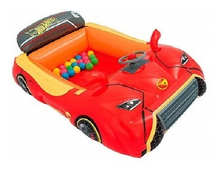 Inflable Bestway Auto Hot Wheels Incluye 25 Pelotas