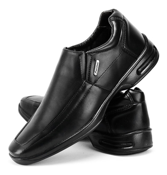 Sapato Masculino Anti Stress Ortopedico Palmilha Macia