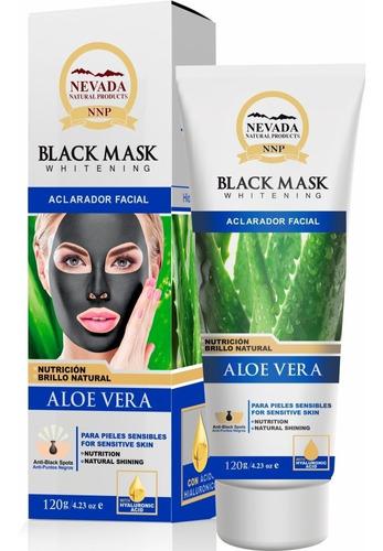 Mascarilla Negra Aloe Vera Con Acido Hialuronico 120g
