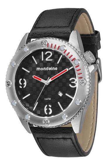Relógio Masculino Mondaine Pulseira De Couro 76411g0mgnh1