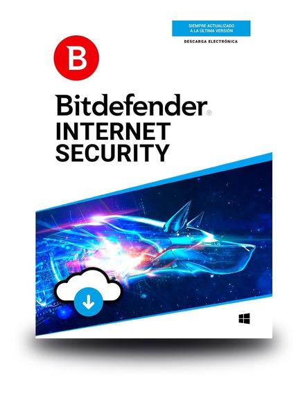 Bitdefender Internet Security 3 Usuarios, 1 Año