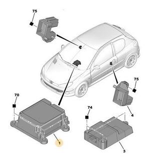 Módulo De Airbag Peugeot 206 - 207 A Telecodificar