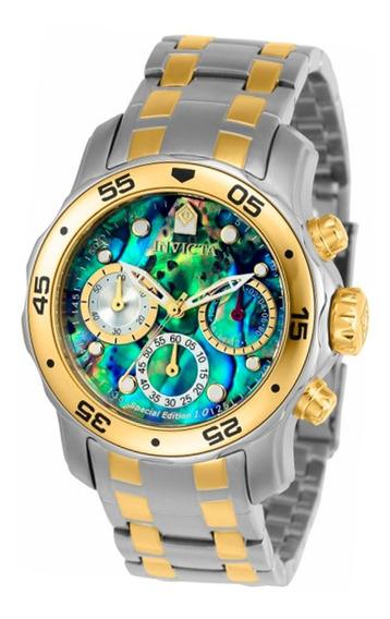 Relógio Feminino Invicta Pro Diver 24833 Banhado Ouro 18k Com Aço Edição Especial Original Garantia Nota Fiscal + Brinde