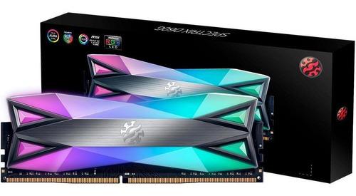 Memoria A-data Xpg Spectrix D60g Rgb 16gb Ddr4 3200mhz Dimm