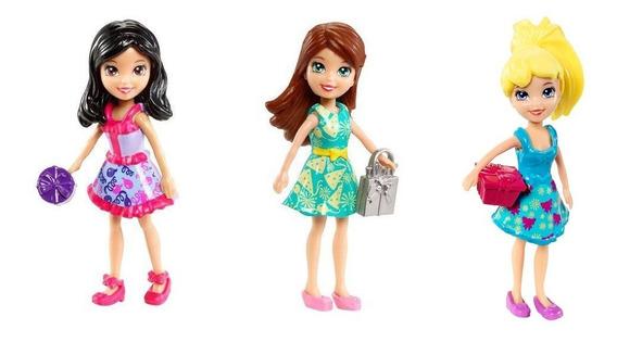 Boneca Polly Pocket , Polly, Crissy , Lila Kit Com 3 Mattel