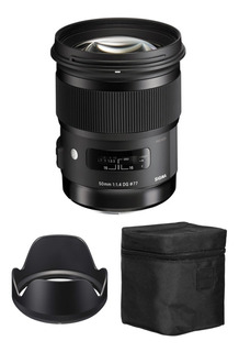 Lente Sigma 50mm F/1.4 Dg Hsm 12 Cuotas Canon Nikon