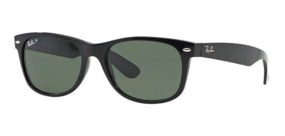Oculos Sol Ray Ban New Wayfarer Rb2132 901 58 58mm Polarizad