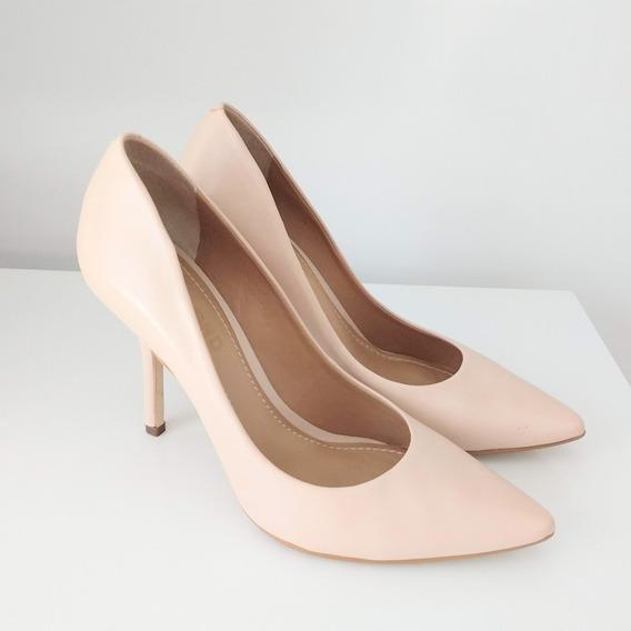 Sapato Scarpin Dumond Nude Couro Legítimo Novo!