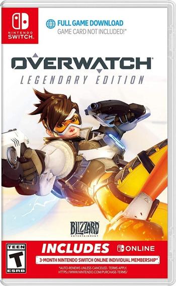 Overwatch Legendary Edition Switch Mídia Digital Novo