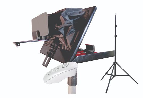 Teleprompter Baby C/ Tripé, Adaptador De Celular E Controle