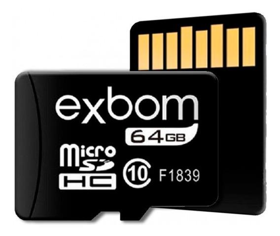 Cartão De Memória 64gb Microsd Gravações 10mbs - Stgd-tf64g