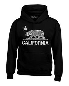 Shop4ever California Republic Sudaderas Con Capucha Del Oso