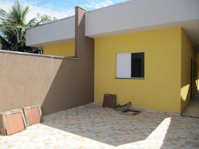 Casa Nova Em Itanhaém Com 2 Dormitórios